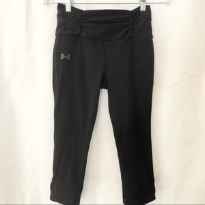 Under Armour Ruched Waist Cropped Legging